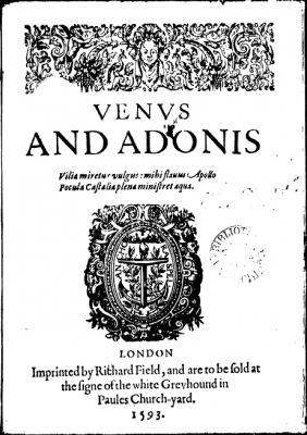 First quarto of Venus and Adonis (1593)